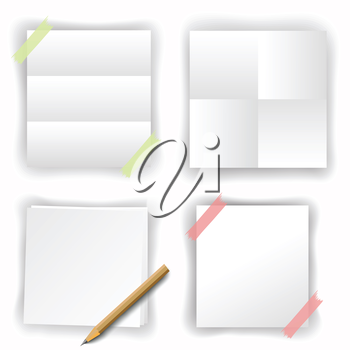 set of white papers for your design