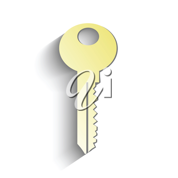 colorful illustration with gold key for your design