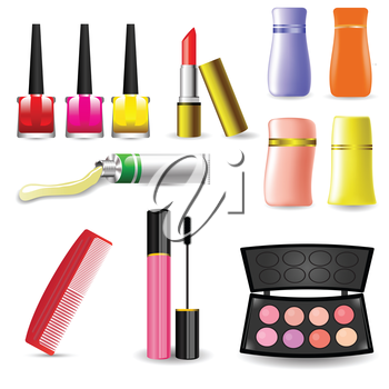 colorful illustration with  Makeup Cosmetic Product  for your design