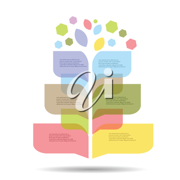 colorful illustration with Modern info graphic for business project  for your design