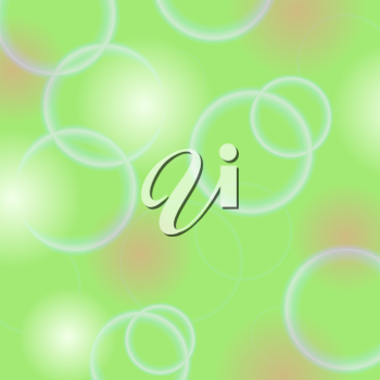 Abstract Circle Green Background. Green Bubble Texture.