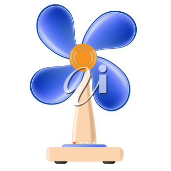 Fan Icon Isolated on White Background. Electric Fan.