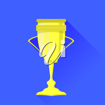 Award Icon Isolated on Blue Background. Winner Cup Symbol