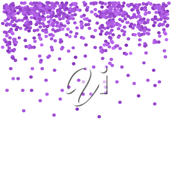 Purple Confetti Isolated on White  background. Purple Circle Pattern