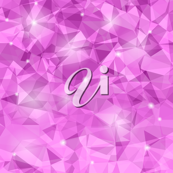 Abstract Pink Polygonal Background. Abstract Polygonal Pattern