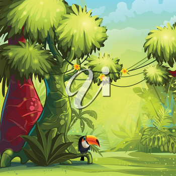 Royalty Free Clipart Image of a Jungle