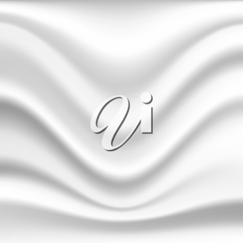 Abstract wavy silk background in white color
