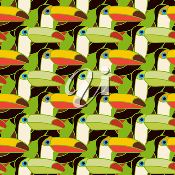toucans bird colorful seamless pattern - vector illustration. eps 8