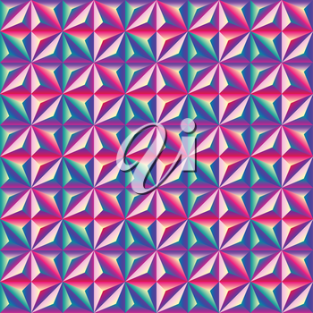 Bright colorful geometric abstract 3D seamless patterns. vector illustration - eps 8