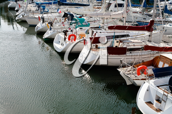 yacht mooring in Cancale, Brittany, France