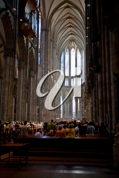 divine service in Cologne cathedral in Germany
