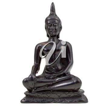 statuette of Buddha isolated on white