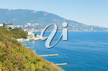 South Coast of Crimea - view of Yalta from Livadia district