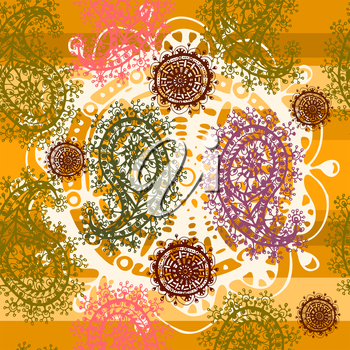Vector graphic, artistic, stylized image of Paisley Seamless Pattern - Illustration