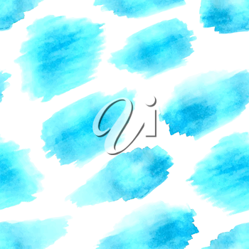 Hand-drawn blue stains on white background.