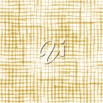 Hand-drawn yellow brush flourishes on white background. Boundless background can be used for web page backgrounds, wallpapers and invitations.