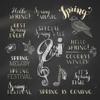 Hello spring. Goodbye winter. It's spring time. Best spring ever. Special spring sale. Spring festival. Spring is coming.