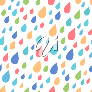Colored droplets on white backgrounds. Boundless background can be used for web page backgrounds, wallpapers, wrapping papers and invitations.
