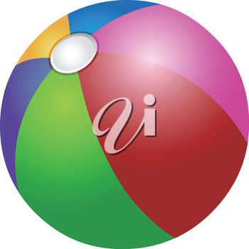 Vector colorful beach ball