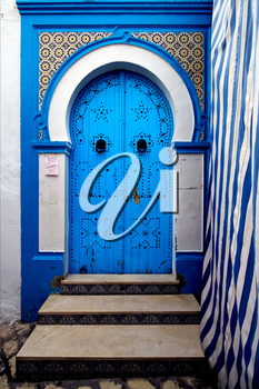 a door in the chasba of sousse in  tunisia