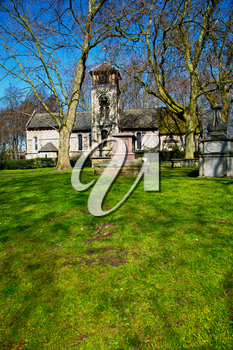 in cemetery england europe old construction    and  history