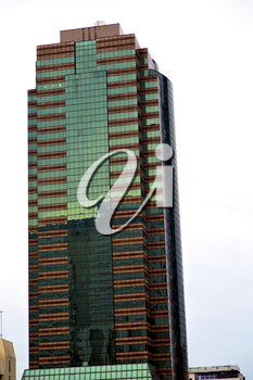 thailand  bangkok office district palaces     abstract  modern building line  sky