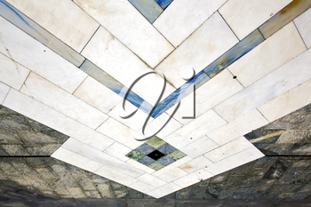 busto arsizio  street lombardy italy  varese abstract   pavement of a curch and marble