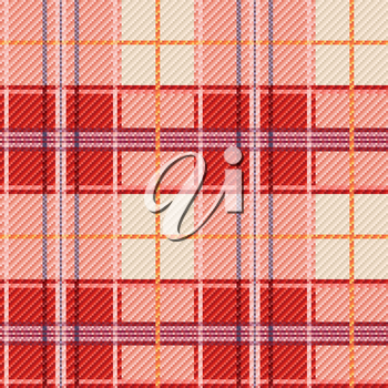 Seamless checkered vector bright pattern with red and white colors
