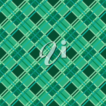 Seamless diagonal vector modern trendy colorful pattern mainly in Emerald color