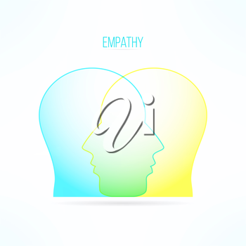 Empathy icon. Empathic person concept. Compassion design. Compassionate feelings and emotions.