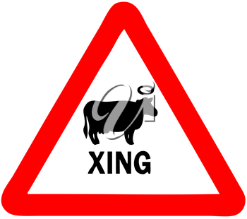 Royalty Free Clipart Image of a Holy Cow Sign