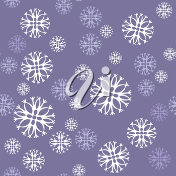 Vector. Seamless ornament snowflake  in color 476