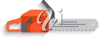 Chainsaw Icon on white background. Flat design Vector illustration