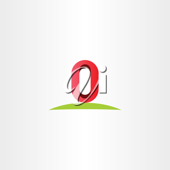 letter o zero 0 number vector logo icon