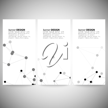Molecule structure, gray background for communication, vector illustration.