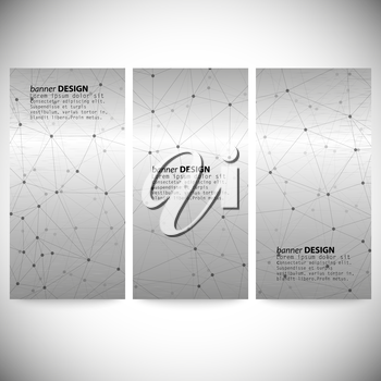 Set of vertical banners. Abstract gray background vector, illustration for communication.