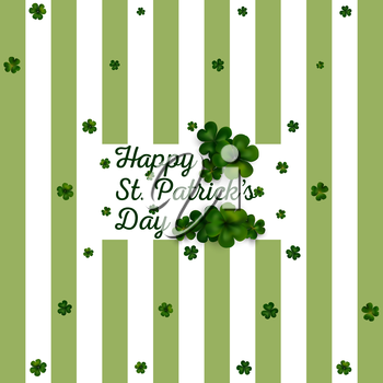 Decoration for St Patricks day. Vector design greetings card or poster.