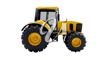 Farm tractor isolated on a white background