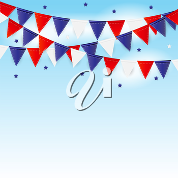 Party Background with Flags Vector Illustration. EPS10