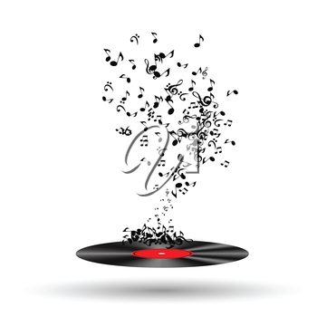 Abstract music background vector illustration for your design. EPS10