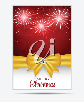 Christmas Snowflakes Website Banner and Card Background Vector Illustration EPS10