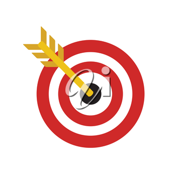 Target Flat Concept Icon Vector Illustration. Target Icon Image. Target Icon Sign.
