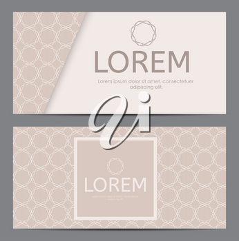 Abstract Business Card with Geometric Pattern. Vector Illustration EPS10