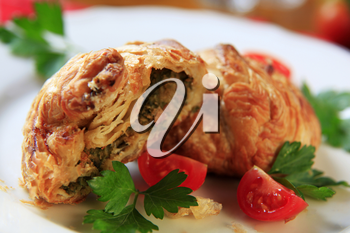 Savory pastry from Malta filled with ricotta or mushy peas