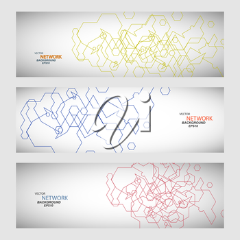 Vector set three sets of abstract contour lines.