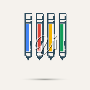 Simple stylish pixel icon handle. Vector design.