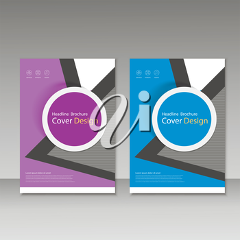 Vector brochure, magazine, cover design, poster template.