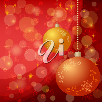 Christmas holiday background: balls, stars and circles. Eps10, contains transparencies. Vector