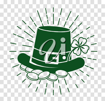 Icon Holiday - St. Patricks Day. Icon in the linear style, silhouette