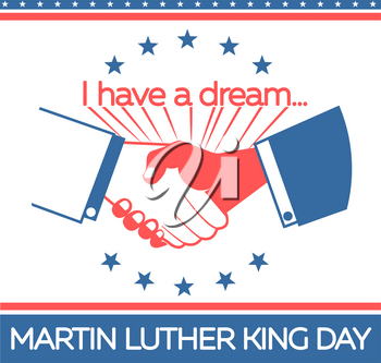 banner on the holiday - Martin Luther King Day. Icon MLK day in the linear style